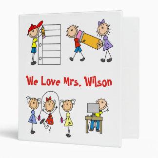 Custom Teacher Notebook 3 Ring Binder