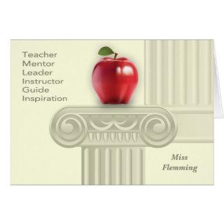 Custom Teacher s Name Teacher Appreciation Cards