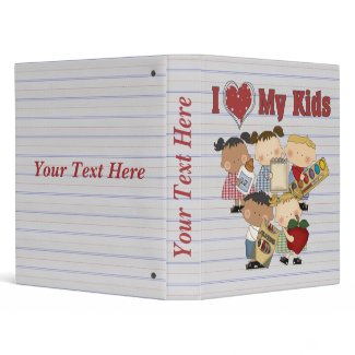 Custom Teacher School Notebook binder