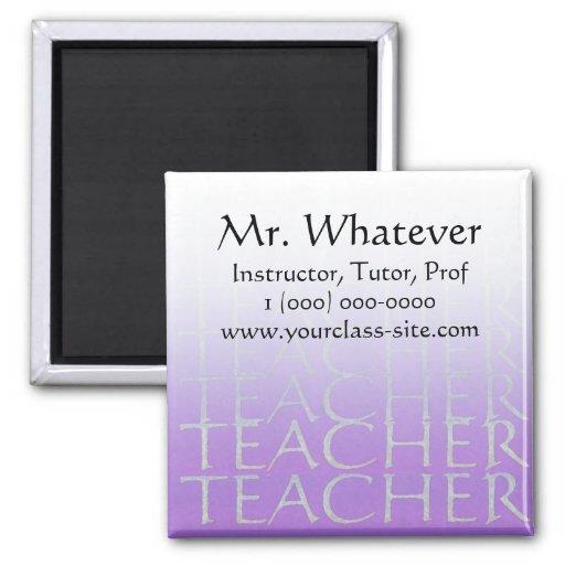 Custom Teacher, Tutor, Prof Magnet