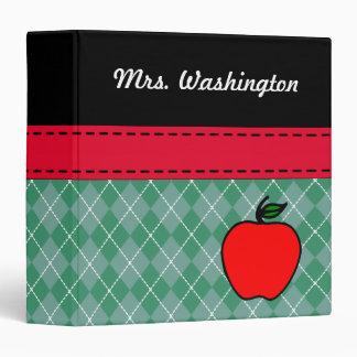 Custom Teacher's Apple Lesson Plan Organizer Gift Binder