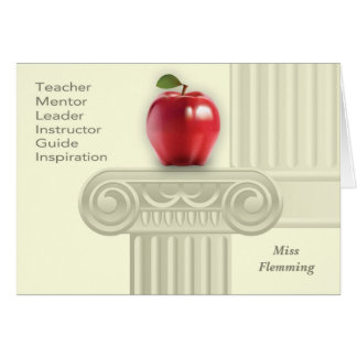 Custom Teacher's Name Teacher Appreciation Cards