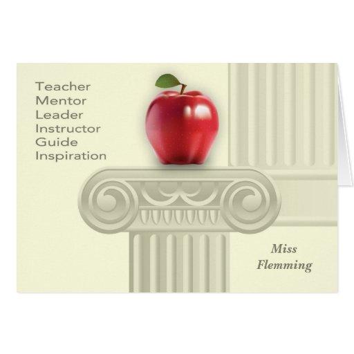 Custom Teacher's Name Teacher Appreciation Cards