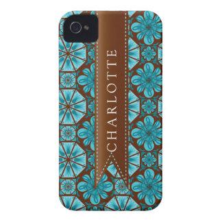 Custom Teal Tile Blackberry Bold Case