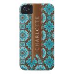 Custom Teal Tile Case-Mate iPhone 4 Case