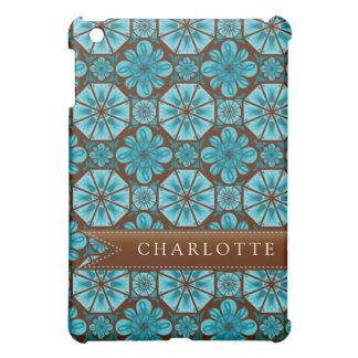 Custom Teal Tile Cover For The iPad Mini