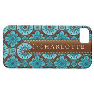 Custom Teal Tile iPhone 5 Covers