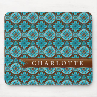 Custom Teal Tile Mouse Pads
