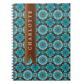 Custom Teal Tile Note Book