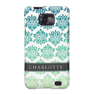 Custom Teal Turquoise Damask Samsung Galaxy SII Case
