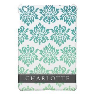 Custom Teal Turquoise Damask Case For The iPad Mini