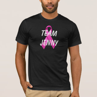 Custom Team Black Breast Cancer Pink Ribbon Shirt