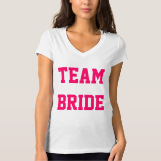 Custom Team Bride Tee Shirt with Number on Back