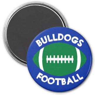 Custom Team Color & Text Green Football Decorative Magnet
