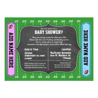 Custom Team Football Themed Baby Shower Invitation
