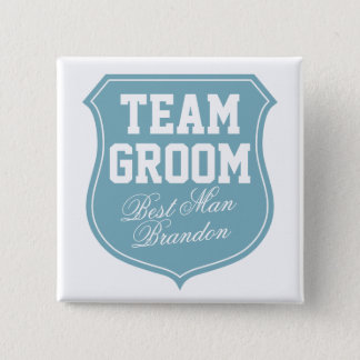 Custom Team Groom buttons for wedding party