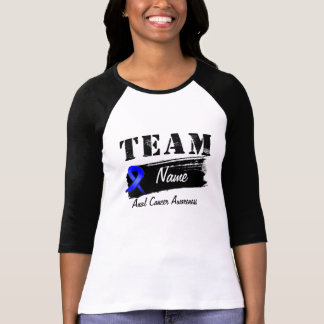 Custom Team Name - Anal Cancer T-shirts