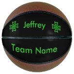 Custom Team Name Irish Celtic Bright Green Knots Basketball