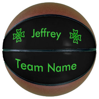 Custom Team Name Irish Celtic Bright Green Knots Basketball