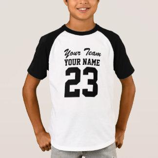Custom Team Name Number Kids Sports Jersey T-Shirt