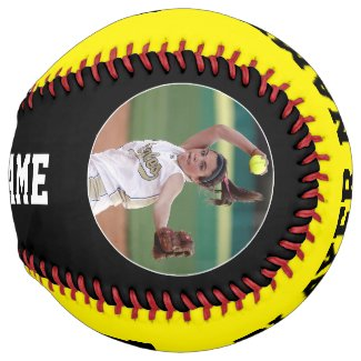 Custom Team Name, Player, Photo, Position & Number Softball
