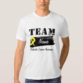 Custom Team Name - Testicular Cancer T Shirt