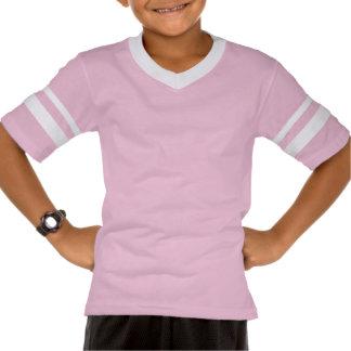 Custom Team Pink Girls Name Kids Sports Jersey T-shirt