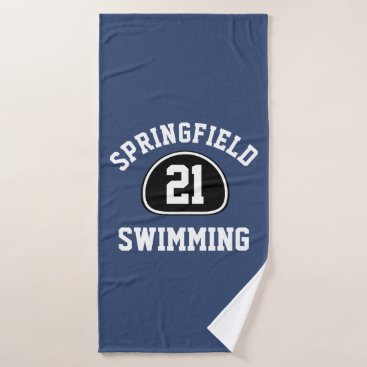 Beach Themed Custom Team Pride Team Name and Number/Class Year Bath Towel