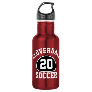 Beach Themed Custom Team Pride Team Name and Number/Class Year Stainless Steel Water Bottle