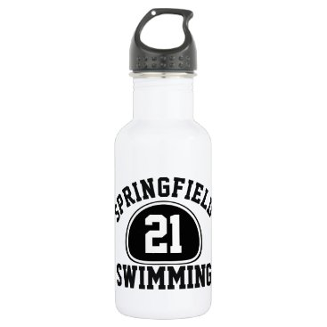 Beach Themed Custom Team Pride Team Name and Number/Class Year Water Bottle