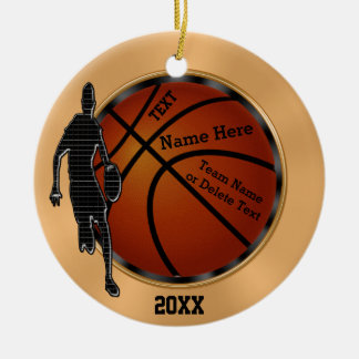 Custom Techno Meets Vintage Basketball Ornaments