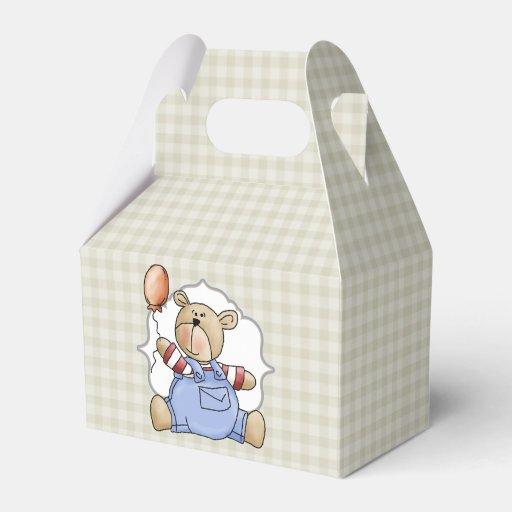 Personalized 1st Birthday Favor Boxes : Custom teddy bear baby s first birthday favor box zazzle