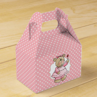 Custom Teddy Bear Baby's First Birthday Favor Box