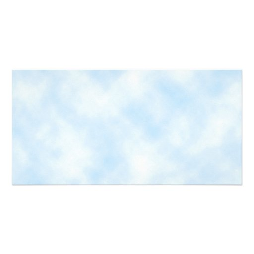 Custom Template: Blue Sky With Clouds Photo Card