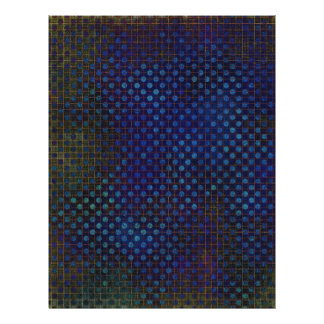 "Custom Template: Dark Blue Halftone Pattern 8.5"" X 11"" Flyer"