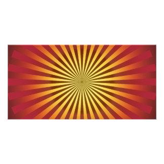 Custom Template: Gradient Radial Lines Card