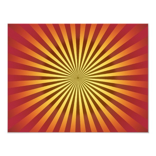 Custom Template: Gradient Radial Lines Card