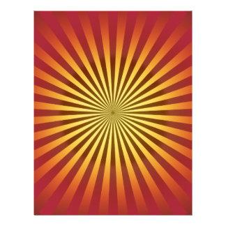 Custom Template: Gradient Radial Lines Flyer