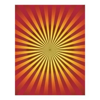 Custom Template: Gradient Radial Lines Letterhead Template