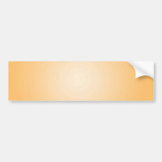 Custom Template: Gradient Radial Orange White Car Bumper Sticker