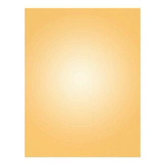 Custom Template: Gradient Radial Orange White Letterhead Design