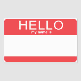 Name Tag Templates Stickers Zazzle - Hello my name is tag template