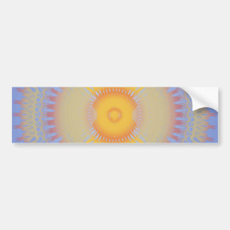 Custom Template Orange Yellow Radial Design Bumper Stickers