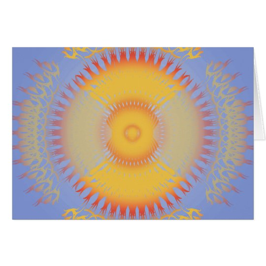 Custom Template: Orange & Yellow Radial Design Card