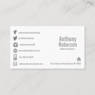 Social media business cards templates zazzle custom template with social media symbols business card fbccfo Image collections