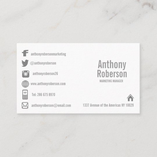 Custom template with social media symbols business card zazzle custom template with social media symbols business card flashek Image collections