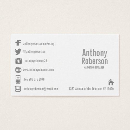 Social Media Business Cards Templates Zazzle - Social media business card template