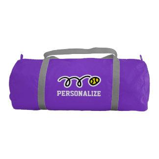 Custom tennis bag for players and sport coach gym duffel bag