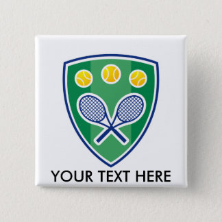 Custom tennis gift for club or tournament pinback button
