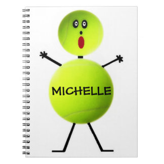 Custom Tennis Player Notebook